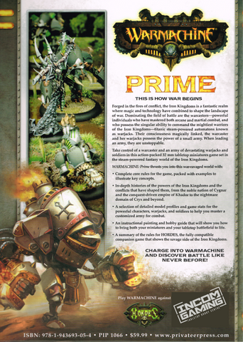 War machine Prime MkIII Hardcover