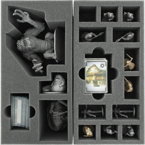 STAR WARS IMPERIAL ASSAULT - Jabba's Realm - Foam tray set