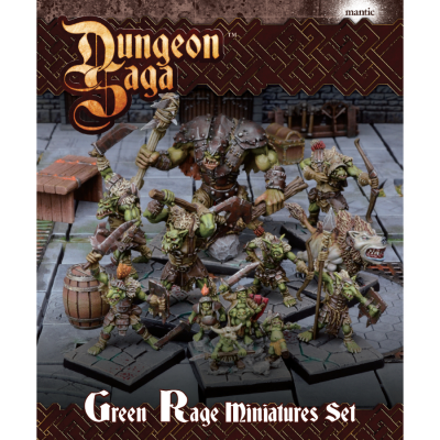Dungeon Saga: Green Rage Miniatures Set