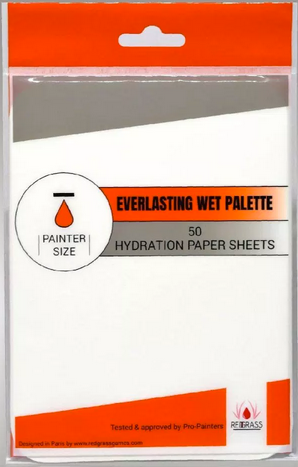50 x Hydration paper sheets for Painter