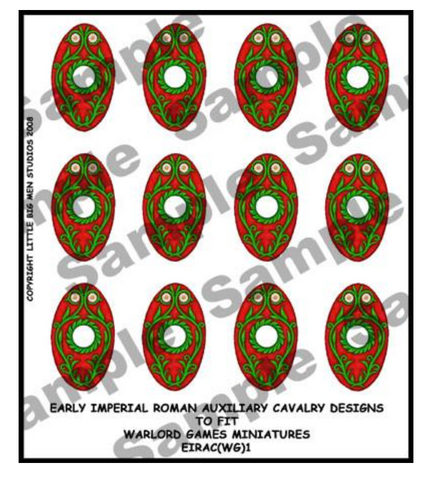EIR Auxiliary Cavalry shield designs 1