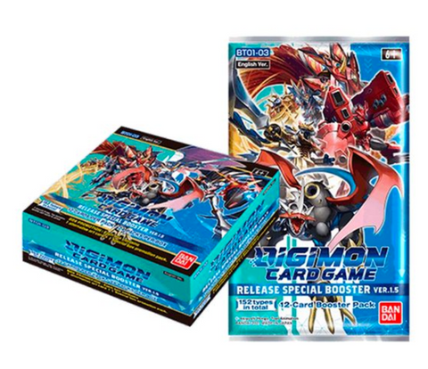 DIGIMON - Release Special Booster Ver.1.5 *Sealed box of Boosters*