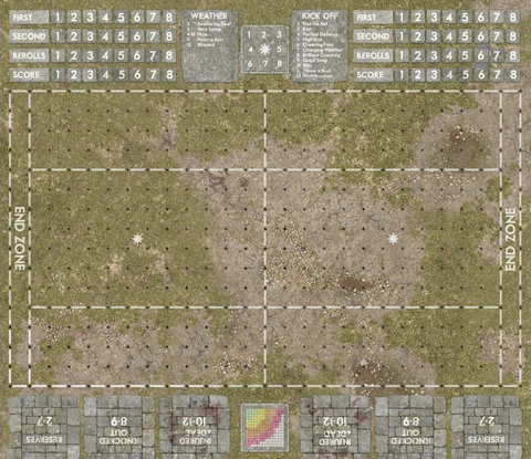 GRASSY - Blood Bowl Pitch