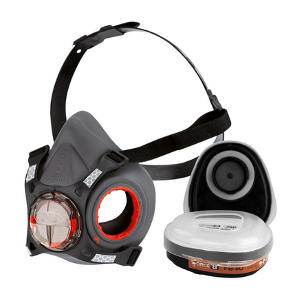 Force8 Half Mask with Typhoon Valve