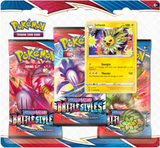 SWORD and SHIELD 5 Battle Styles *3-Pack Booster*