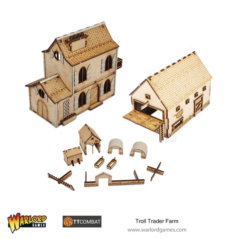 Rustic Farm Scenery Set