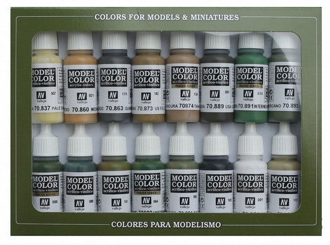 MODEL COLOUR SET - WWII Allies Set (x16)