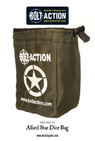 Bolt Action Allied Star Dice Bag