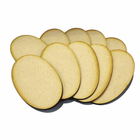 90mm x 52mm MDF Oval Bases (10)