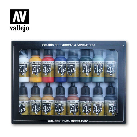 AV Vallejo Model Air Set - Basic Colors (x16)