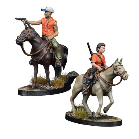 MAGGIE AND GLENN ON HORSEBACK - Booster