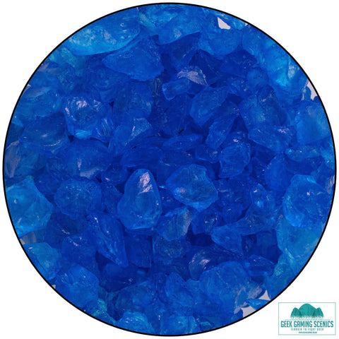 Glass Shards 4-10 mm blue (400 g)
