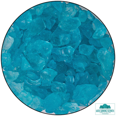 Glass Shards 4-10 mm turquoise (400 g)