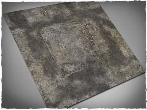 Game mat – GOTHIC RUINS - 8mm Hex (4x4)