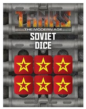 TANKS: The Modern Age Modern Soviet Dice Set (6)