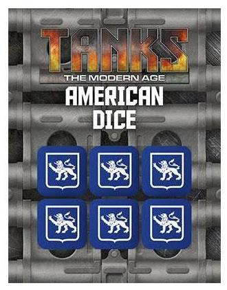 TANKS: The Modern Age Modern U.S. Dice Set (6)