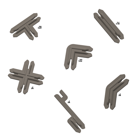 Plastic Terrain Clips - Brown