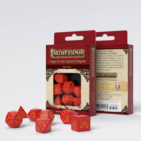 Pathfinder Curse of the Crimson Throne Dice Set (7)