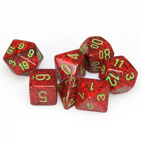 STRAWBERRY - Speckled 7-Die Set