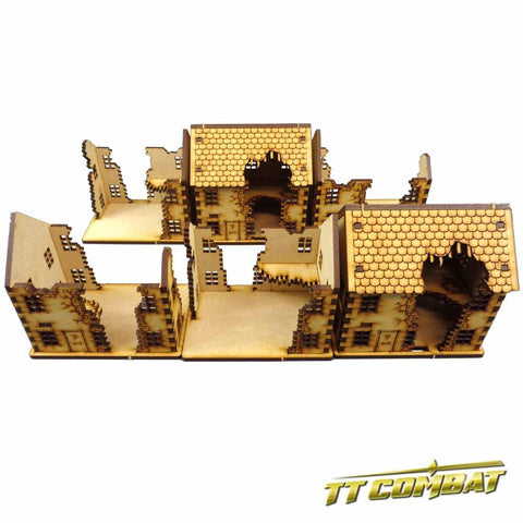 Ruined Town House Set (15mm)