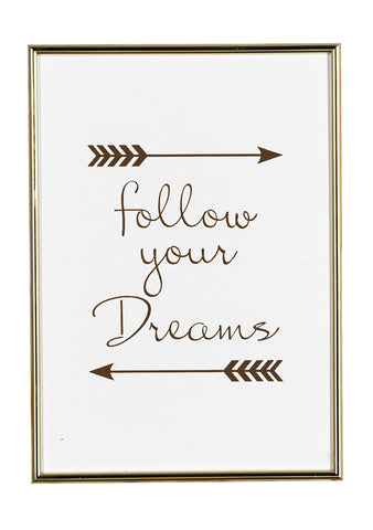 Follow Your Dreams Framed Wall Décor - I Bought Her Freedom