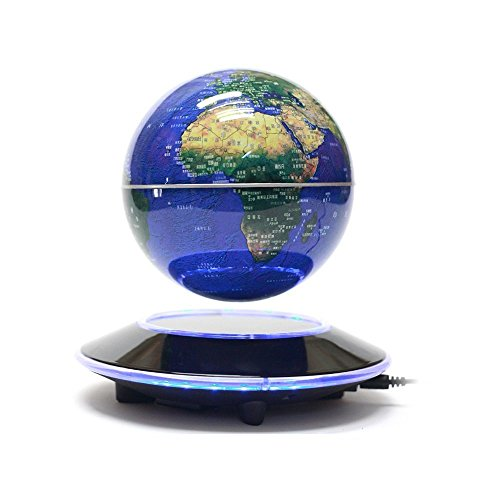 Floating globe with led lights desk world map new trader u shop floating globe with led lights desk world map gumiabroncs Image collections