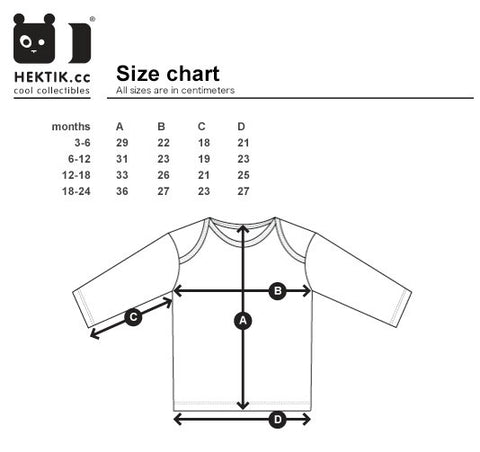 hektik size-chart long-sleeves kids