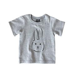 Baby T-shirt Flap grey