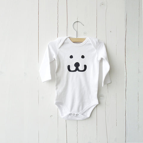 Baby Onesie Smile long sleeves