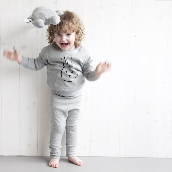 Baggy pants baby and kids grey