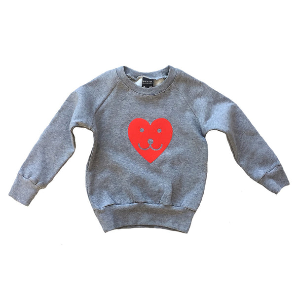 Sweater smiling heart grey