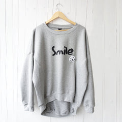 Sweater Adult Smile Button