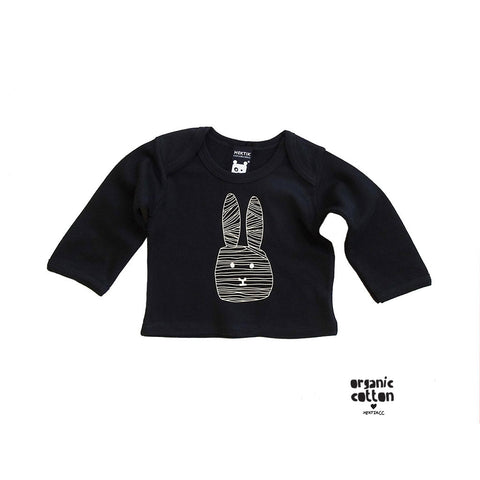 Baby T-shirt Flap black