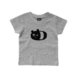 Short Sleeve T-Shirt XiXi the Panda Grey Melee