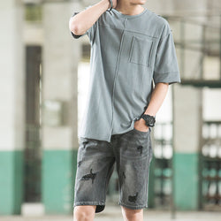 T91157 Patched Plain Tee