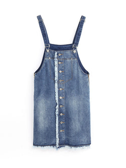 F1700208  Denim Worker Dress