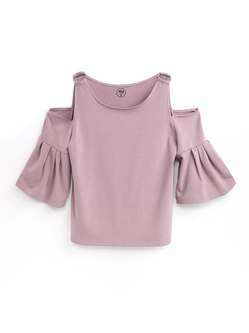 F1710163  Off Shoulder Top