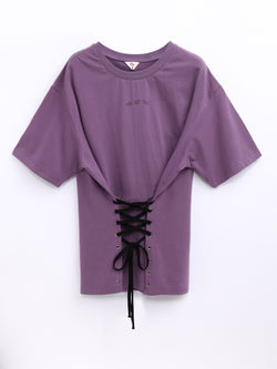 F17102067  Lace Up Top