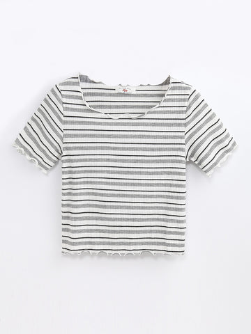 F1711105  Striped Top