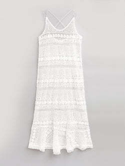 F17600510  Lace Slip Dress