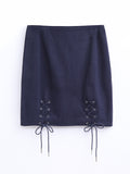 F17701359  Lace Up Skirt