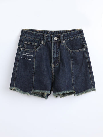 F1780209  Denim Shorts