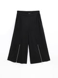 F1781002  Ring Zip Culottes