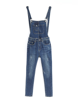 F17900108  Denim Jumpsuit
