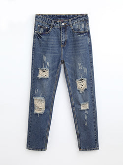 JN80808  Distressed Jeans