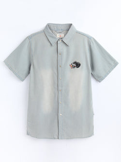 SH80207  Embroider Denim Shirt