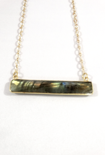 Labrodite Bar Necklace
