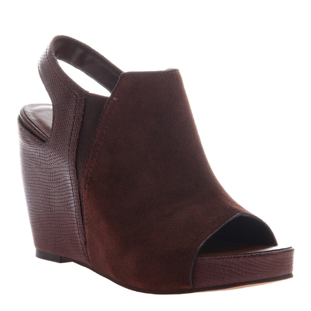 Naked Feet Tobacco Platform Wedge Shoe