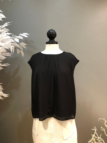 Black Bow Ladder Back Blouse