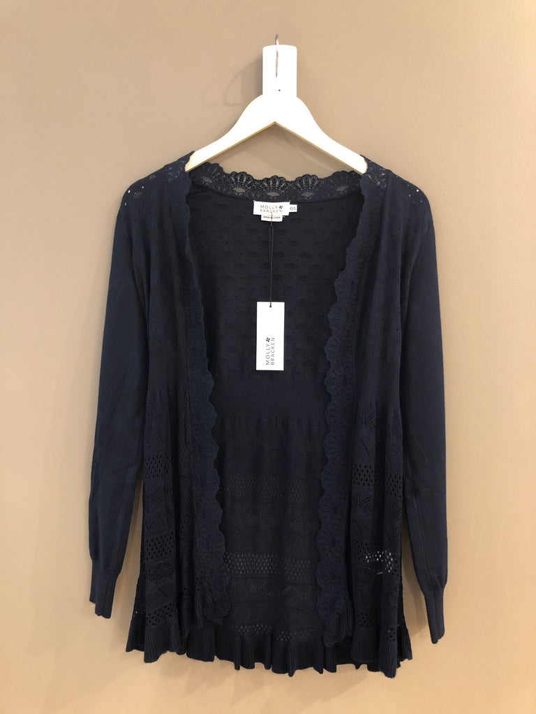 Molly Bracken Navy Knit Cardigan